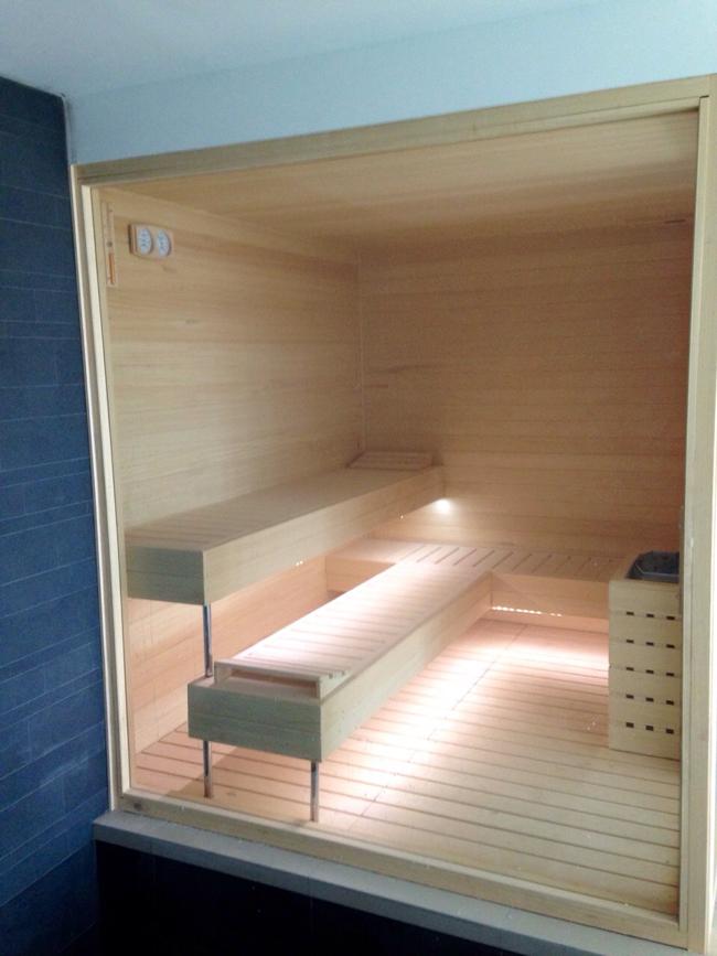 Saunas de dise o en madera saunapoolespana - Madera para sauna ...
