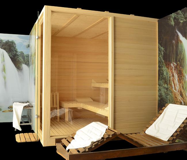 Comprar sauna finlandesa de madera saunapoolespana - Como hacer una sauna ...